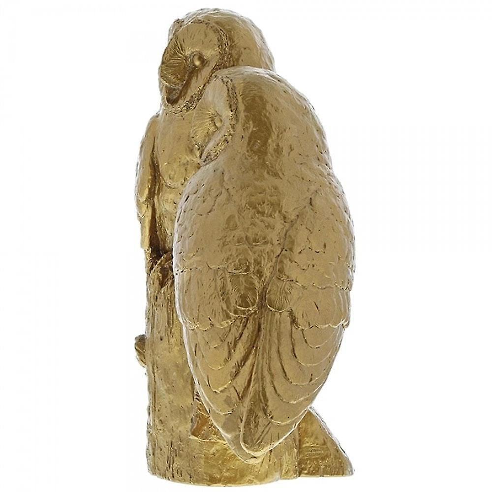 Border Fine Arts Pair Of Owls Gold Figurine