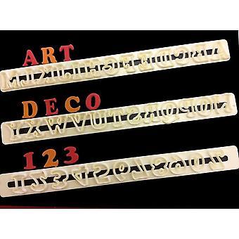 FMM Art Deco Hoofdletteralfabet en nummersnijderset
