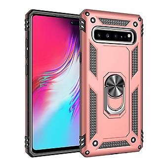 Pour Samsung Galaxy S10 5G Case, Armour Cover 360 Rotation Holder, Rose Gold