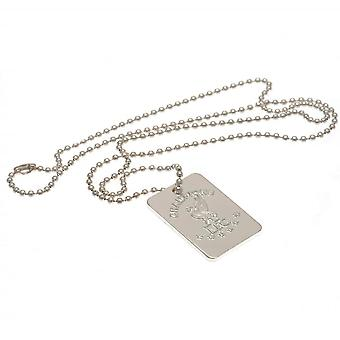 Liverpool FC Mens Champions of Europe Silver Plated Dog Tag