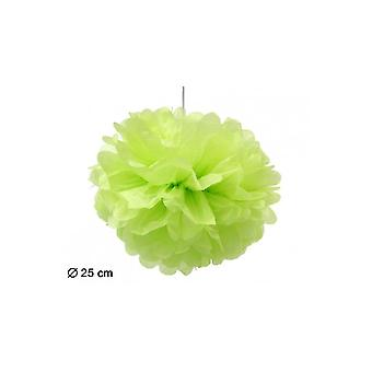 Party favoriserer Pompom Lampion grøn 25cm