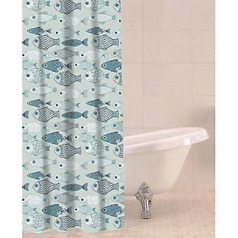 Sabichi Shower Curtain with Baby Fish Design