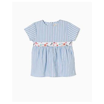 Zippy Stripes And Flowers Blouse
