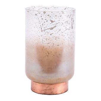 "6.3"" x 6.3"" x 10.4"" Translucent & Copper, Glass, Large Vase"