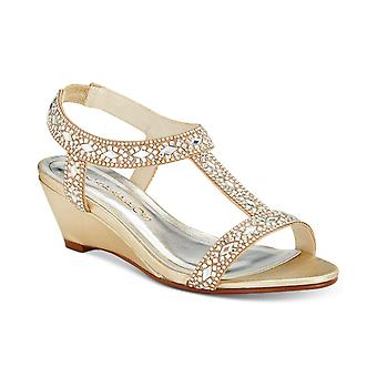 Caparros Womens Lala Open Toe Special Occasion T-Strap Sandals