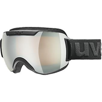 Uvex Downhill Ski Mask 2000 FM Black Silver Mirror Lasergold Lite