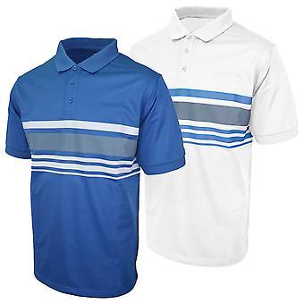 Island Green Mens 2020 IGTS1937 Chest Stripe Golf Polo Shirt