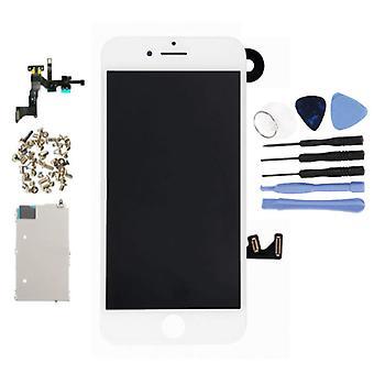 الاشياء المعتمدة® iPhone 7 قبل تجميعها الشاشة (شاشة تعمل باللمس + LCD + أجزاء) A + جودة - أبيض + أدوات