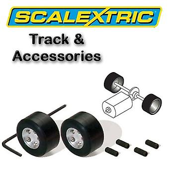 Scalextric Accessories - F1 Pack of 2 Hubs & Tyres