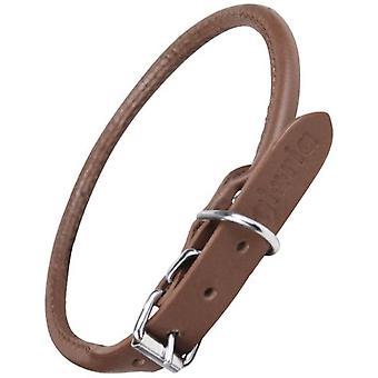 Creaciones Gloria Round Brown Leather Necklace