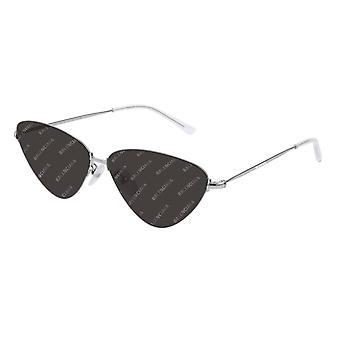 Balenciaga BB0015S 004 Silver/Grey Mirror Sunglasses