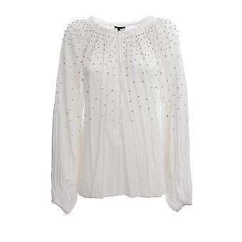 Ermanno Scervino Cm09rgs10 Women's White Cotton Shirt
