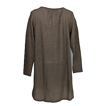 Anybody Women's Dress Brushed Waffle Button Front Sleep Beige A345167