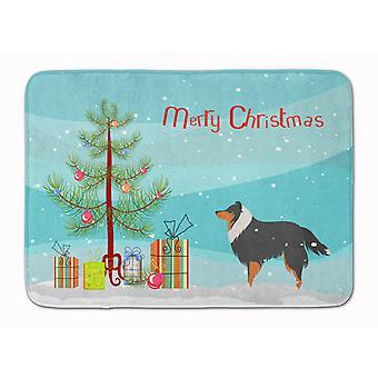 Sheltie/Shetland Sheepdog Merry Christmas Tree Machine Washable Memory Foam Mat