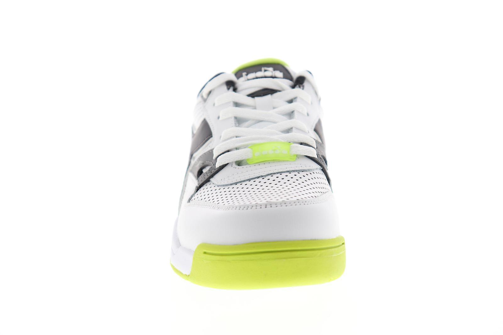 Diadora rebound ess mens vita läder låg Top sneakers skor