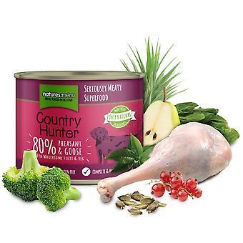 Natures Menu Country Hunter Pheasant & Goose Dog Food Tins