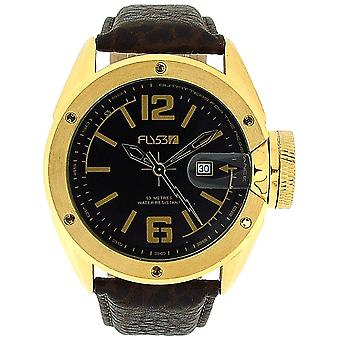 Fly53.05 Gents Analogue Padded Textured Brown Leather Strap Sports-Casual Watch