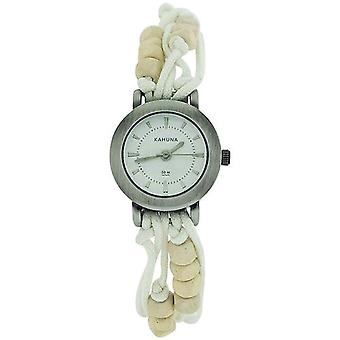 - Lot of 10pcs- Kahuna Ladies White String Bead Bracelet Toggle Watch KLF-0001L