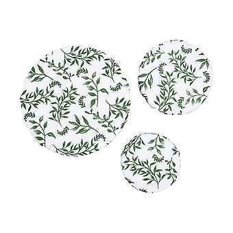 Ladelle Grown Ivy 3 Pack Stretch Bowl Covers