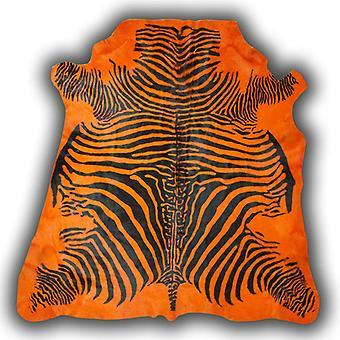 Rugs -Zeb-Tastic Zebra Rugs - Orange & Black