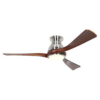 Ventilateur de plafond DC Eco Regento Chrome / Noyer avec LED