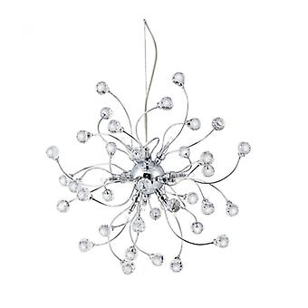 Sonja 12-light Pendant In Chrome And Crystal