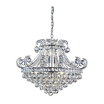 Bloomsbury 6-light Pendentif Light In Chrome And Crystal Bloomsbury 6-light