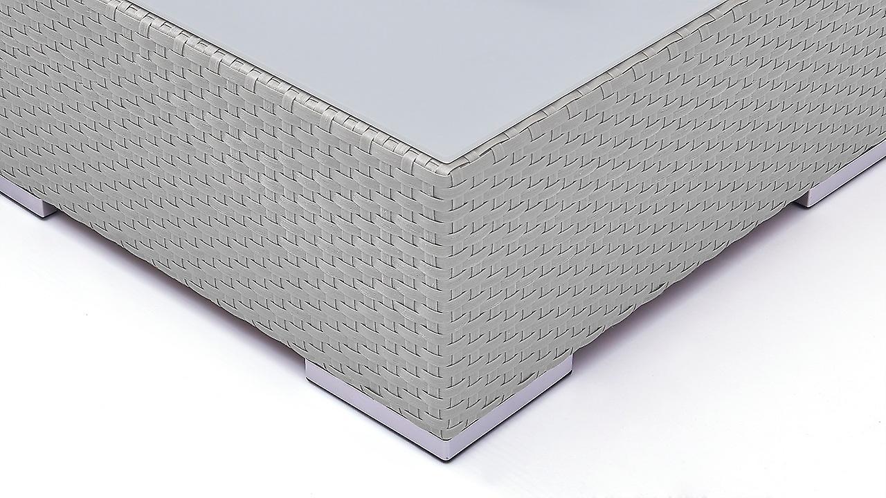 Polyrattan Groupe de siège Tapa - satiné gris