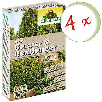Sparset: 4 x NEWDORFF Azet® Buxus& Ilex lannoite, 1 kg