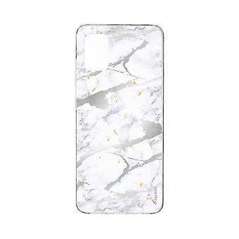 runko Samsung Galaxy A71 pehmeäharmaa marmori vaikutus