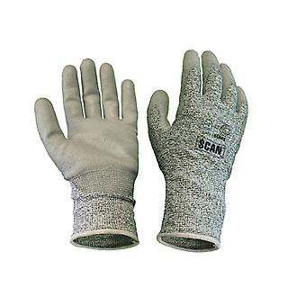 Scan Grey PU Coated Cut 5 Liner Gloves - XL SCAGLOCUT5XL