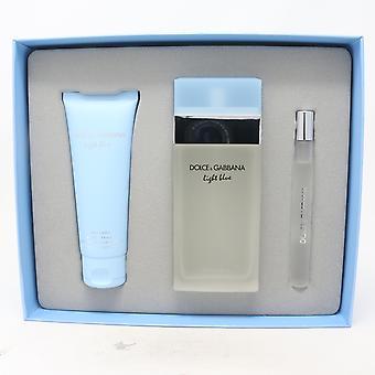 Dolce & Gabbana Light Blue Eau De Toilette 3 Pcs Ensemble