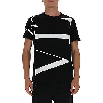 Valentino Uv3mg04w6lv0ni Men's Black Cotton T-shirt