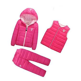 Unisex Cotton-Padded Coat,Vest And Pants Outfit