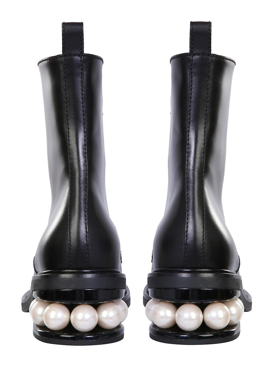 Nicholas Kirkwood 903a25vls1n99 Women's Black Leather Ankle Boots