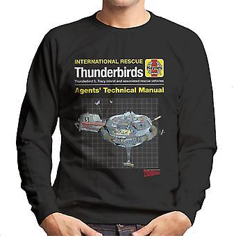 Thunderbirds Agents Technical Manual Thunderbird 5 Men's Sweatshirt