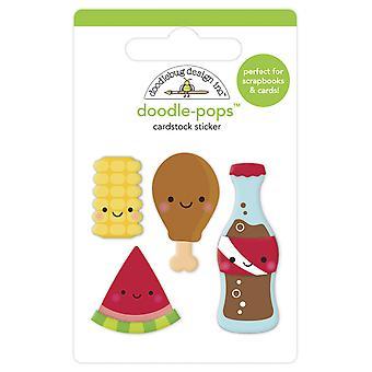 Doodlebug Design Foodie Vänner Doodle-Pops