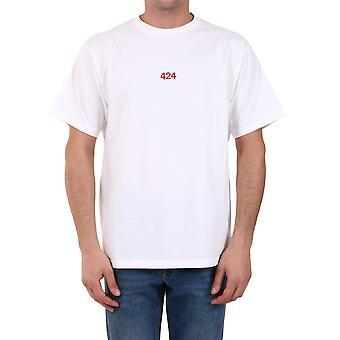424 80010599150 Men's White Cotton T-shirt