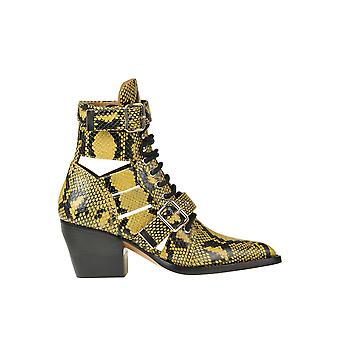 Chloé Ezgl079042 Women's Yellow Leather Ankle Boots