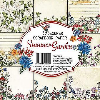 Decorer Summer Garden 6x6 Inch Paper Pack