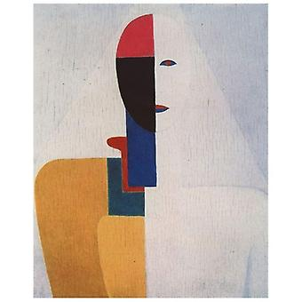 Print on canvas - Busto Di Donna - Kazimir Malevich - Painting on Canvas, Wall Decoration
