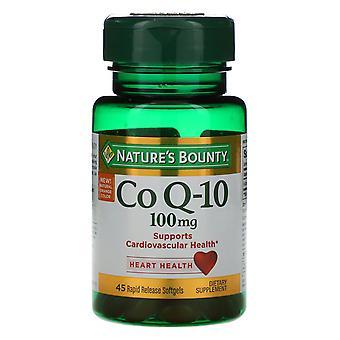 Nature's Bounty, Co Q-10, 100 mg, 45 Rapid Release Softgels