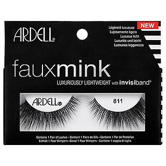 Ardell Faux Mink Lightweight Eyelashes - Black 811 with Knot Free Invisiband