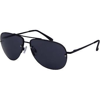 Okulary przeciwsłoneczne Unisex Casual Kat. 3 czarne (7200)