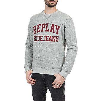 Replay Men's Jeans Embroidery Sweatshirt