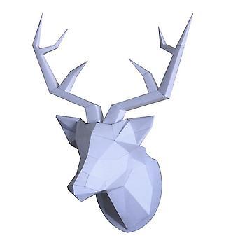 Hirschkopf Papier-Modell, Diy Wohnzimmer Wanddekoration Tiermodellierung