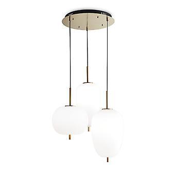 Idealny Lux UMILE - Zintegrowana lampa sufitowa LED 3 Lights White 3000K