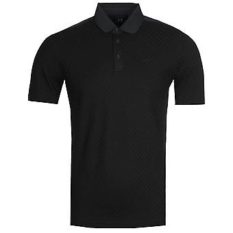 Armani Exchange Tonal Navy Polo Camicia
