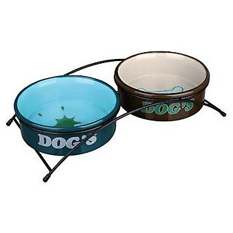 Trixie Set Ceramic Feeder + Foot (Dogs , Bowls, Feeders & Water Dispensers)