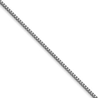 Stainless Steel Polished Fancy Lobster Closure 3.2mm Box Chain Necklace Jewelry Gifts for Women - Length: 20 to 30